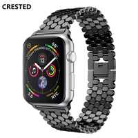 Bracelet en acier inoxydable pour apple Bracelet de montre montre apple 4 3 bande 44mm 40mm i Bracelet de montre 42mm/38mm lien Bracelet Bracelet Bracelet de montre blet