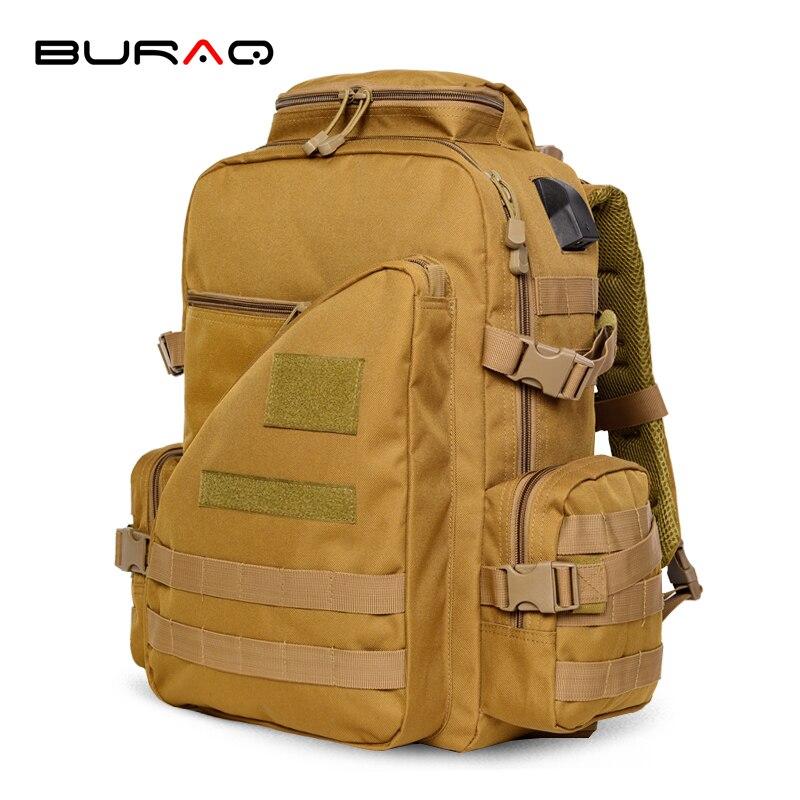 Быстрая атака Открытый Многофункциональный Кемпинг мужчины путешествия туризм военный рюкзак кемпинг с USB-зарядное устройство Т-0221