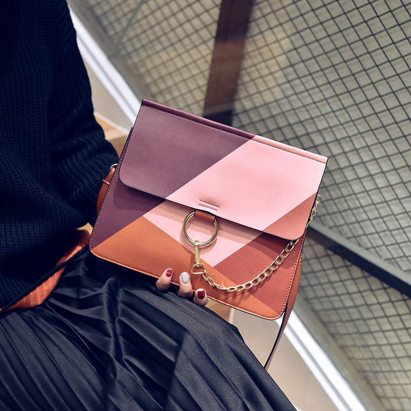 Style famous brand Retro Minimalist Crossbody Bag Small Women Shoulder Messenger diamond Chain Puzzle Ring