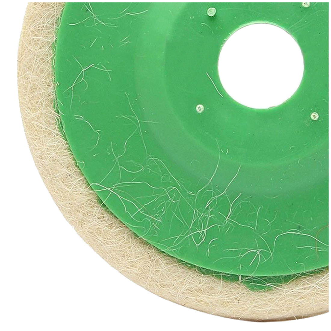 BIFI-10pcs 100mm 4 Inch Round Wool Buffing Pad Polishing Wheel Felt Buffer Disc Set ...
