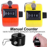 Promotion Stainless Metal Mini Lap Golf Hand Held Manual 4 Digit Number Farm Hand Golf Football Tally Counter Clicker