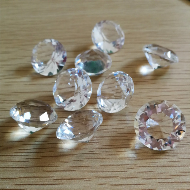 Free Shipping 20mm Clear Diamond Paperweight,k9 Crystal Diamond for Wedding and Birthday Gifts