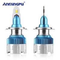 Anmingpu 2x Mi2 50W 8000LM H7 Led Headlight Bulbs H4 LED H7 H1 9005/HB3 9006/HB4 H8 H9 H11 Led Fog Light 6000K 12V Auto Headlamp
