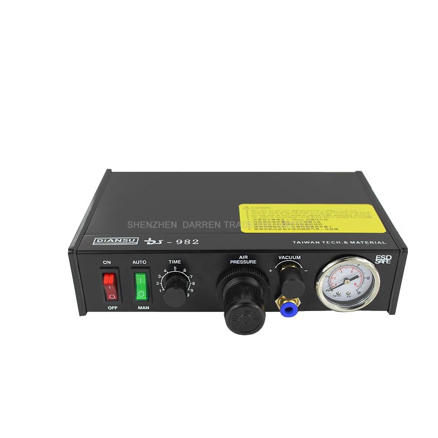 все цены на 1pcs DS-982 DS982 Semi-Auto Glue Dispenser PCB Solder Paste Liquid Controller Dropper Fluid dispenser 110v/220v онлайн