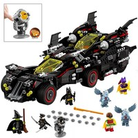 07077 LEPIN 1496Pcs The Batman Ultimate Batmobile Set Model Building Blocks Enlighten Figure Toys For Children Compatible Legoe