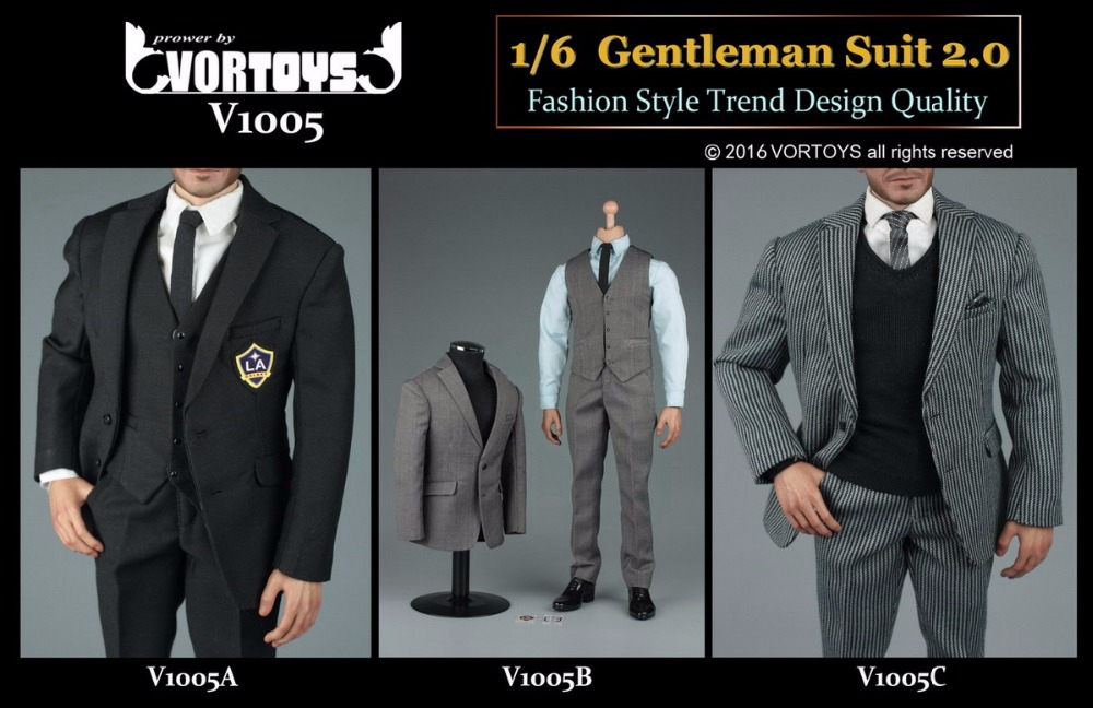 1:6 Scale male Figure Accessory clothes Gentleman Suit set for 12 Action figure doll,not include head and body 16B2850
