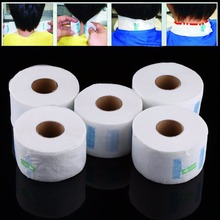 5Pcs/Set Professional Neck Ruffle Paper Rolls Towel Disposable Neck Covering Hairdressing Collar Acc