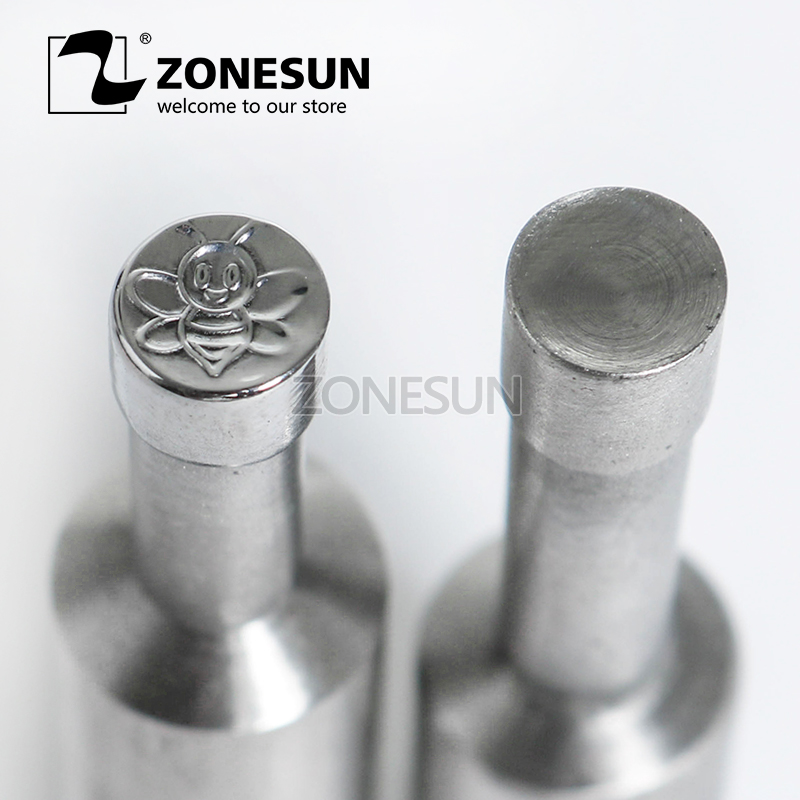 ZONESUN Bee shape Table Press 3D Punch Mold Candy Milk Punching Die Custom Logo For punch die TDP0/1.5 Machine Free Shipping цена