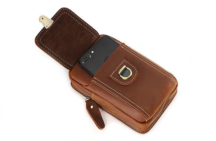 4-6 ''universel téléphones mobiles pochette fermetures à glissière portefeuille étui ceinture pince sac pour smartphone taille ceinture pochette étui téléphone portable sac - 6