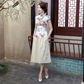 New Arrival Chinese Women's Traditional Satin Shirt Summer Casual Blouse Printed Flower Tang Suit Tops S M L XL XXL A0098-A