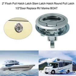 Samochód kempingowy Flush Pull zatrzask z zamkiem 2 Cal drzwi do RV łódź morska Deck Hatch Caravan Motor Home szuflada szafki w Części i akcesoria do kamperów od Samochody i motocykle na