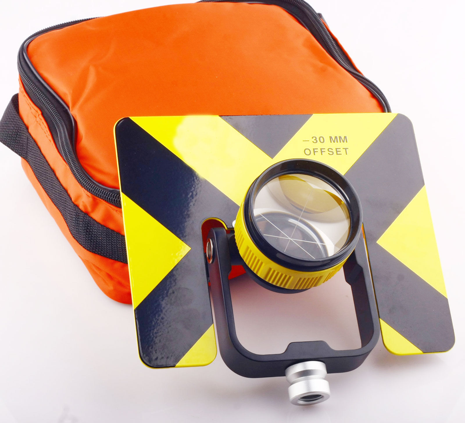 Yellow Single Prism w Bag for Top con total stations Surveying Constant 30 0mm