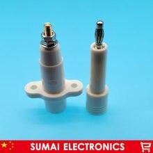 Fiche banane ronde haute tension 4mm, mâle et femelle de bonne qualité 10 KV, connecteur de Test, soudé