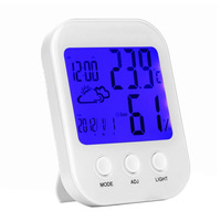1pc High Precision Baby S Room Digital Hygrometer Thermometer Multifunctional Gauge Backlight Temperature Humidity Monitor Sale