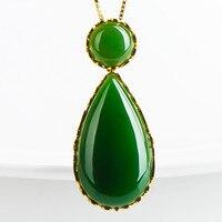 Eollar Colgante Изумрудное Ожерелье Подвески Fine Jewelry колье диопсид модные Pingente esmeralda ожерелье ciondolo делла Giada