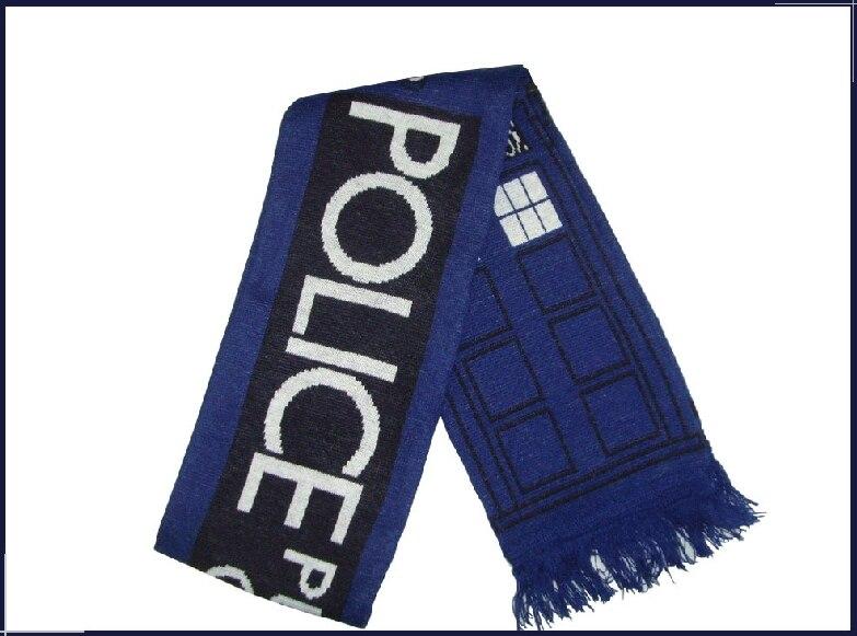 Doctor Who Tardis Police Box Cosplay 5.3 Feet Warm Soft Knitting Scarf ...