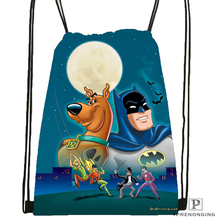 Custom Classic Scooby Doo Drawstring Backpack Bag Cute Daypack Kids Satchel (Black Back) 31x40cm#180531-02-27