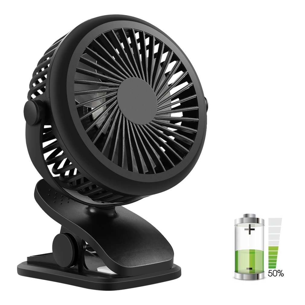Mini Fan Desk Clip Rechargeable Battery Usb