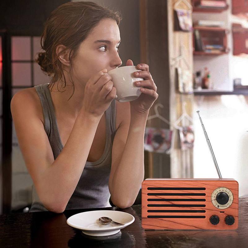 Rétro sans fil Bluetooth haut-parleurs Portable HiFi maison haut-parleur stéréo Subwoofer FM TF Radio pour Smartphone PC ordinateur Portable