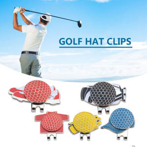 5 PCS Golf Cap Clip Professional Magnetic Hat Clips Metal Sports Golf  Accessory a2a72c01d74e