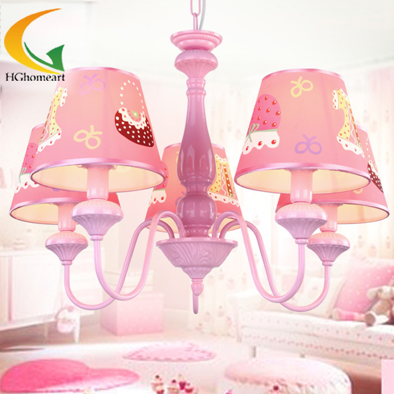 The New Girl Princess Bedroom Chandelier Europe Style Children Bedroom  Study Cartoon Led Chandeliers(China