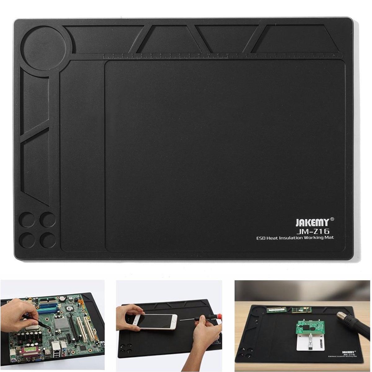 1pcs Black Anti Static ESD Heat Insulation Pad Mat Blanket Phone PC Tablet Repair