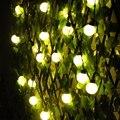 5 cm Tamaño Grande Cadena de la Bola LED Luminaria 10 m Luces de la Cortina de iluminación del día de Fiesta de Navidad de hadas de la boda Al Aire Libre decoración