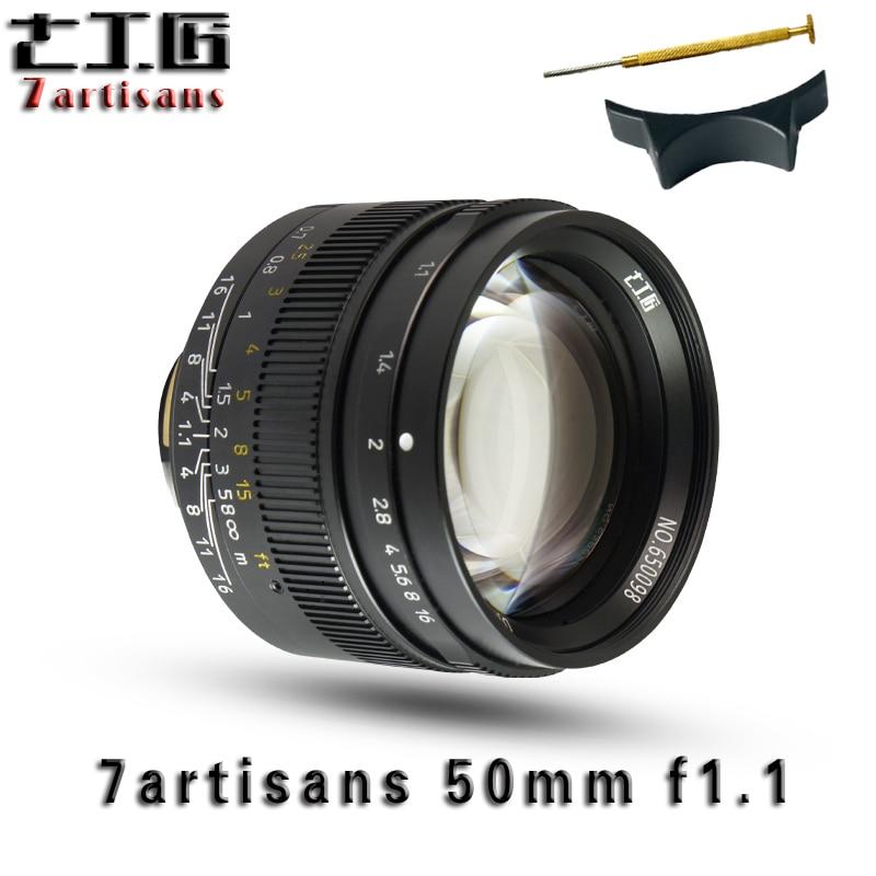 7 artisans 50mm F1.1Large Ouverture paraxial M-monture pour Appareils Photo Leica M-M M240 M3 M5 M6 M7 m8 M9 M9P M10 Livraison Gratuite