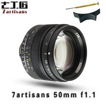 7artisans50mm F1.1 большой апертурой как премьер параксиальное M объектив Кабриолет e штык