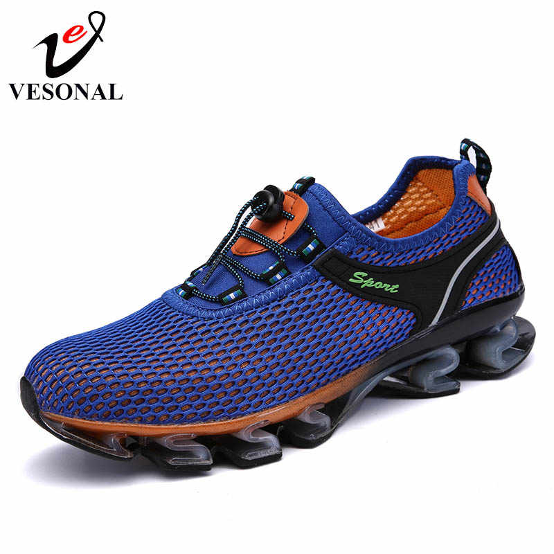 ec429f492d24 ... VESONAL 2019 Hot Sale Summer Breathable Soft Light Male Mesh Shoes For  Men Adult Sneakers Walking ...