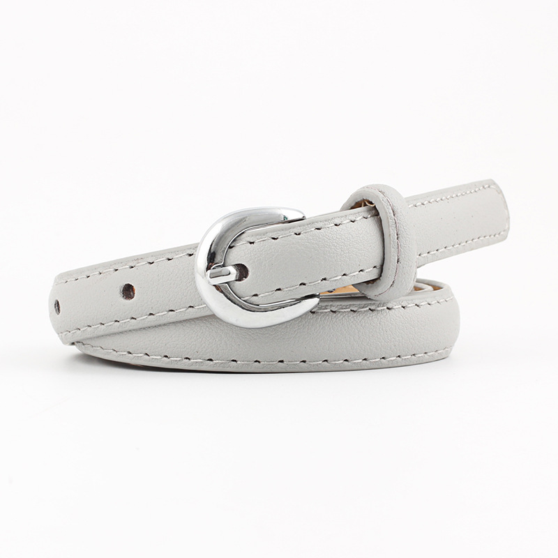2018 New Ladies Red White Black Pink Thin Skinny Jeans Waist Belt Female Silver Pin Buckle Faux Pu Leather Strap Belts for Women