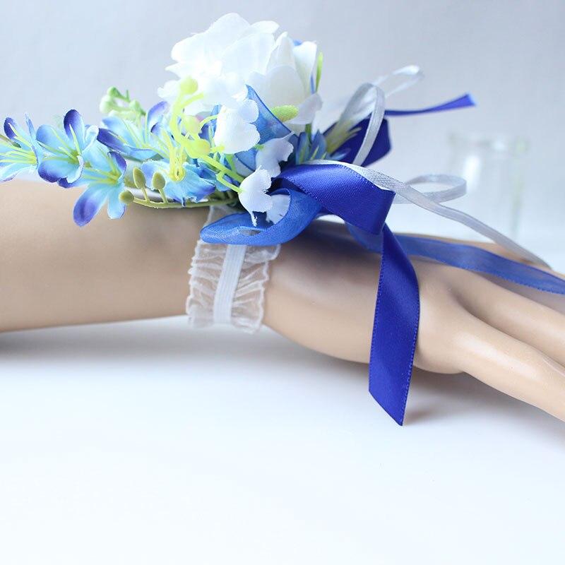 Wrist Corsage Bracelet wedding bridesmaid wrist flower  (32)