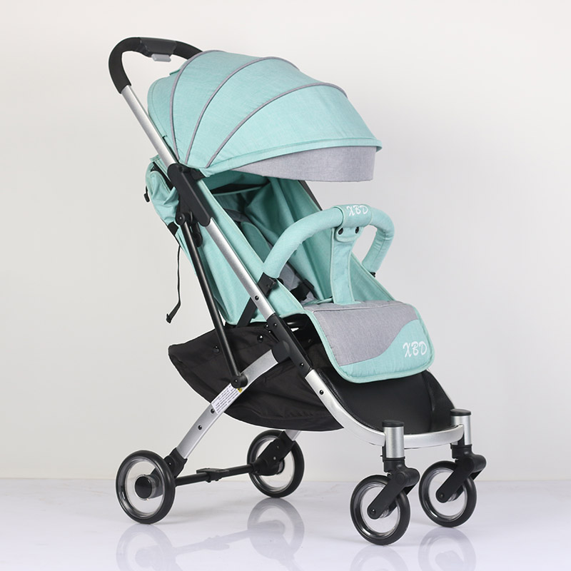 Abdo Trolley Car Folding Baby Stroller Lightweight Pram Portable Traveling Foldable 175 Degree Kids Luxury Umbrella Stroller