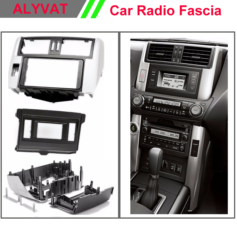 Free Shipping Car Radio Fascia for TOYOTA Land Cruiser Prado 150 (with 4.2 display) Left wheel Facia Dash CD Trim Install Kit 2 din car radio fascia for toyota prado gxl 2010 stereo facia frame panel dash mount kit adapter
