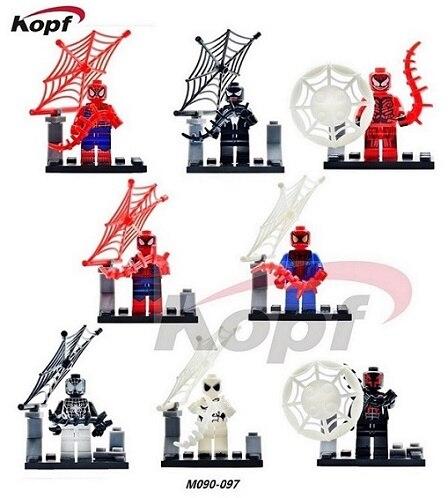 Building Blocks Super Heroes Single Sale X-Man Spiderman Spider-Man Spider Man Venon Bricks Assemble Model Children Gift Toys пластилин spider man 10 цветов