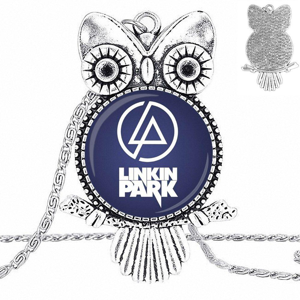Us 1 89 Ej Glaze Linkin Park Logo For Women Choker Vintage Jewelry Glass Cabochon Choker Pendant Long Owl Necklace In Pendant Necklaces From Jewelry