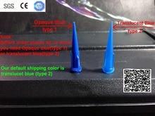 Free Shipping 5000 pcs/lot 22GA  Blue TT High Density Polyethylene UV Smoothflow Taper Tip for Tip Fluid Dispensing Needle