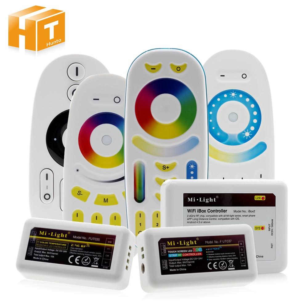 New Mi.Light 2.4G Wireless RF Touch Remote, 4-zone RGBW LED Controller, WiFi Ibox2 Different Combination For RGBW RGBWW Strip стоимость