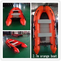 Orange Top Quality Pvc Boats With All Standard Accessories For Fishing