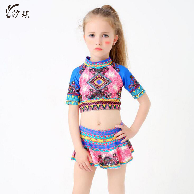 60b62d96ea sunny eva girls swimwear Two-Piece Bikini Girls bathing shorts for kids  Children's swimwear for