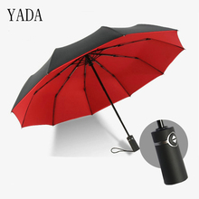 YADA Solid Color High Quality Double Layer Umbrella Rain Women Automatic For Windproof Folding UV Umbrellas YS294