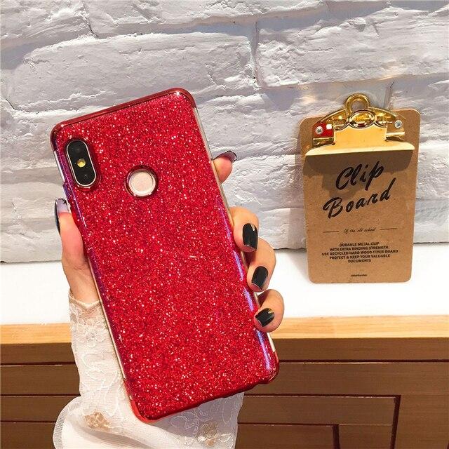 Chapado Bling caja del teléfono de silicona para xiaomi mi x 2 2 s A2 lite 8 iPhone 6 6X A1 5X rojo mi nota 4 4X4 5X5 6 Pro 5A primer 5 Plus