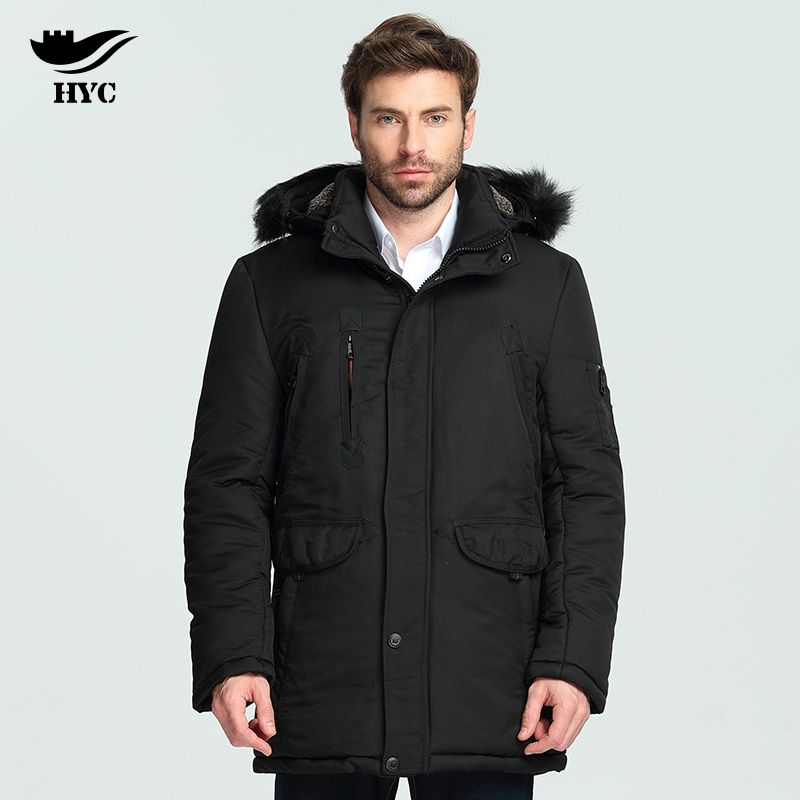 HAI YU CHENG Winter Jacket Men Wadded Parka WindBreaker Long Trench Coat Plus Size Parka Men Coat Outerwear Fur Collar Anorak cheng yu edwin tsai the syntax of wh questions in vietnamese