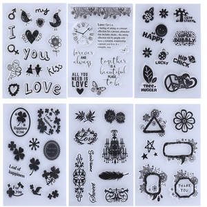 Clear-Stamps Sheet-Craft Scrapbooking Decoration Transparent Silicone 1PC for DIY Photo-Album
