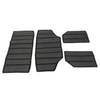 4PCs Hardtop Sound Deadener Heat Insulation Kit Center Console Armrest Covers Caps For Jeep Wrangler JK