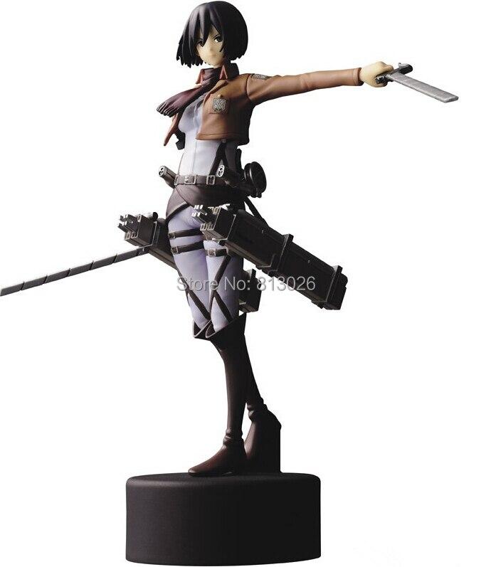 Anime Attack On Titan Mikasa Ackerman PVC Action Figure Collection Classic brinquedos Toys for christmas gift ToyO0019