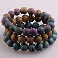 Free shipping 10mm Natural Stones Bracelet Handmade Stretched Druzy Bracelet For Yoga Bracelet