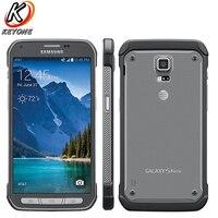 원래 삼성 갤럭시 S5 G870A 휴대 전화 5.1 인치 2 기가바이트 RAM 16 기가바이트 ROM 쿼드 코어 16.0MP 2800 미리암페르하우어 Andoid 스마트 전화