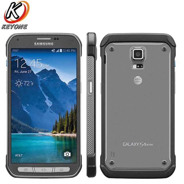 Original Samsung Galaxy S5 Active G870A Mobile Phone 5.1 inch 2GB RAM 16GB ROM Quad core 16.0MP 2800 mAh Andoid Smart Phone