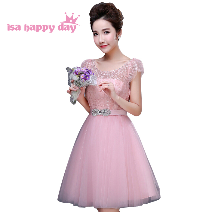 Detail Feedback Questions about 2018 light pink ivory short tulle puffy  princess ball prom knee dress 12 girls dresses for teens robe de graduation  W2764 on ... 319fc0b60f86
